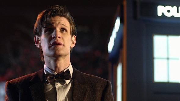 Matt Smith returned as The Doctor in a witty and inventive series opener. Image: BBC/Adrian Rogers