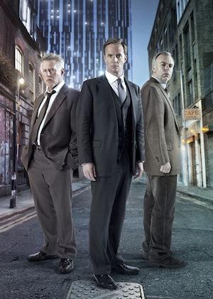 Phil Davis with Whitechapel co-stars Rupert Penry-Jones and Steve Pemberton. Image: ITV