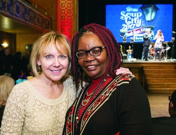 Anne Fitzpatrick of Bloomfield Hills and Mae Thompkins of Oak Park