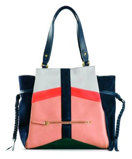 Jerome Dreyfuss color-blocked suede and leather bag, $1,140, at Tender.