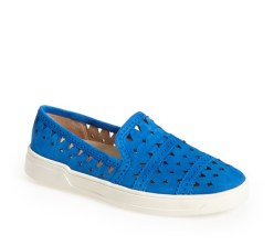 Via Spiga perforated leather GINGI ($175) in Blue, at Sundance Shoes, West Bloomfield (248-737-9059).