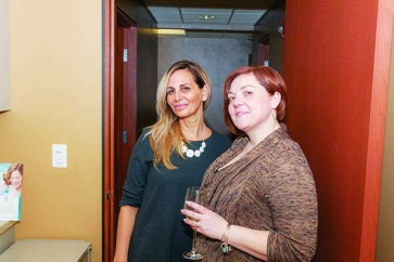 Michele Connell of Novi and Amanda Sehee of New Hudson