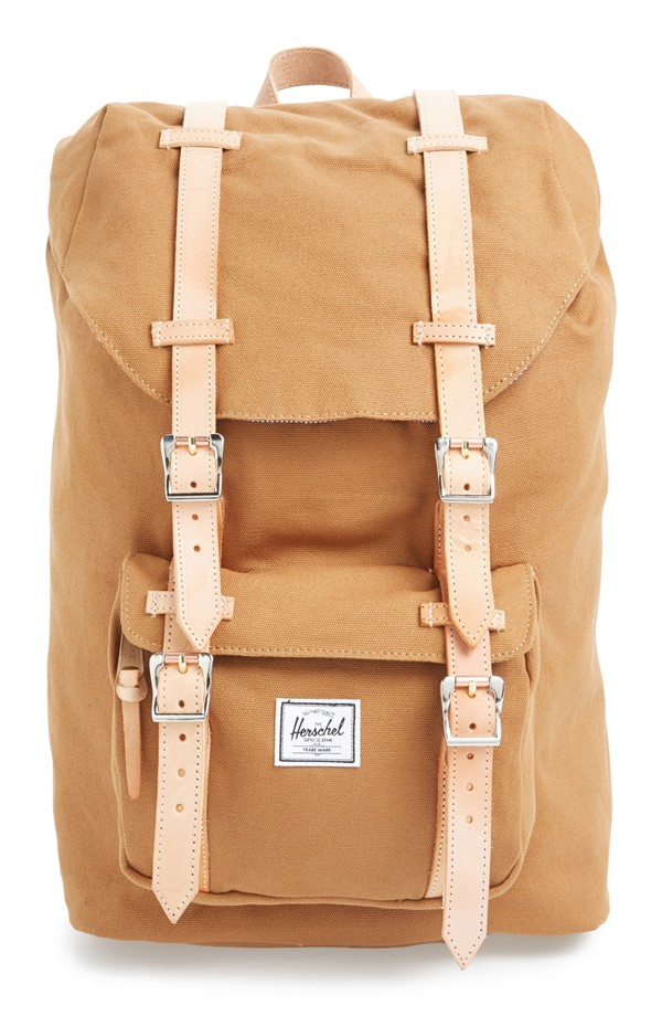 Herschel Supply Co. LITTLE AMERICA BACKPACK ($170) pairs an ultra-rugged pack inspired by classic mountaineering with a padded laptop sleeve, padded mesh pods, an interior media pocket and more. Area Nordstrom stores (nordstrom.com).
