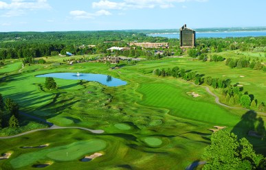 Indulge in one of three luxurious courses in between winery tours at the Grand Traverse Resort and Spa.