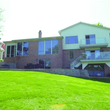 The back of the house before renovations.