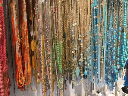 Jewelry display at Charming Charlie, Novi Town Center.