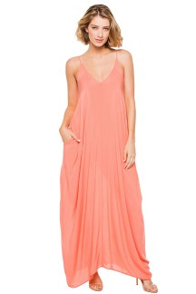 Maxi bubble dress in Melon, $68, at Everything But Water, Somerset Collection, Troy.