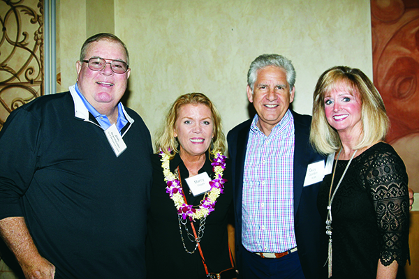 Sportscaster Jim Brandstatter, event organizer Marcy Hayes, Guy Gordon of WJR and Cindy Swift, Board of Directors of Child's Hope of Wayne County