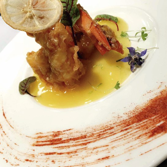 Specialty appetizers are created at the chef's discretion for those seated at the Chef's Table in the kitchen.