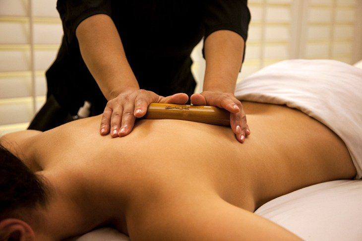 Enjoy a bamboo massage at the Immerse Spa.