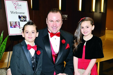 Red Tie Ball 2016 held at the Book Cadillac on April 9, 2016. Patrick Rugiero with his children at last year's Red Tie Ball.