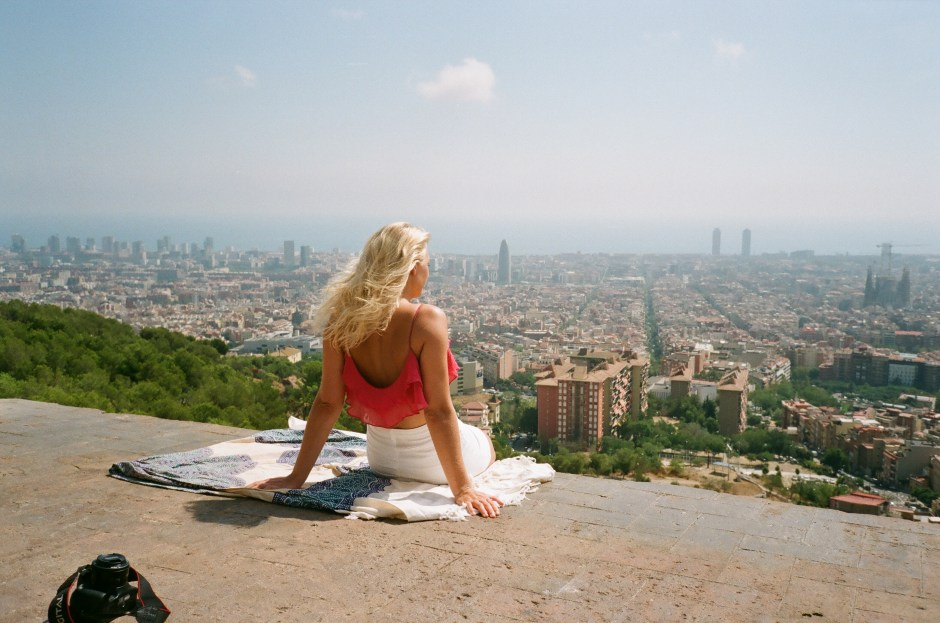 Looking out over Barcelona