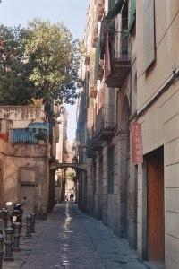 The most beautiful street in Barcelona