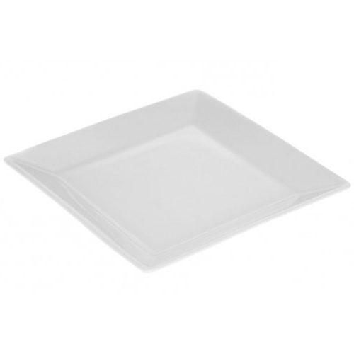 Assiette Plate carrée 13 cm blanche
