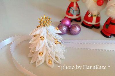 つまみ細工deクリスマスツリー