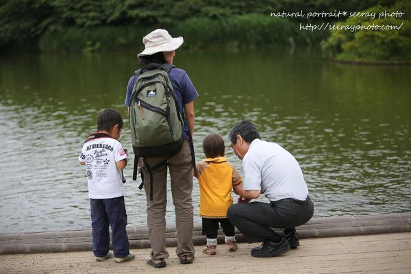 三渓園の池