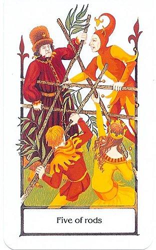 古徑塔羅小牌旅程之權杖五