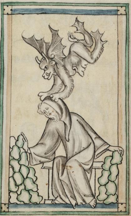 Demonic Oppression, drawn circa 1375.