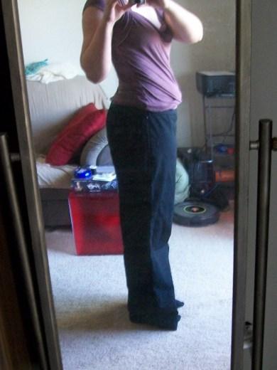 Side view of slacks