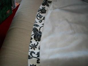 Inside of floral dress