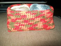 Finished basket from the side