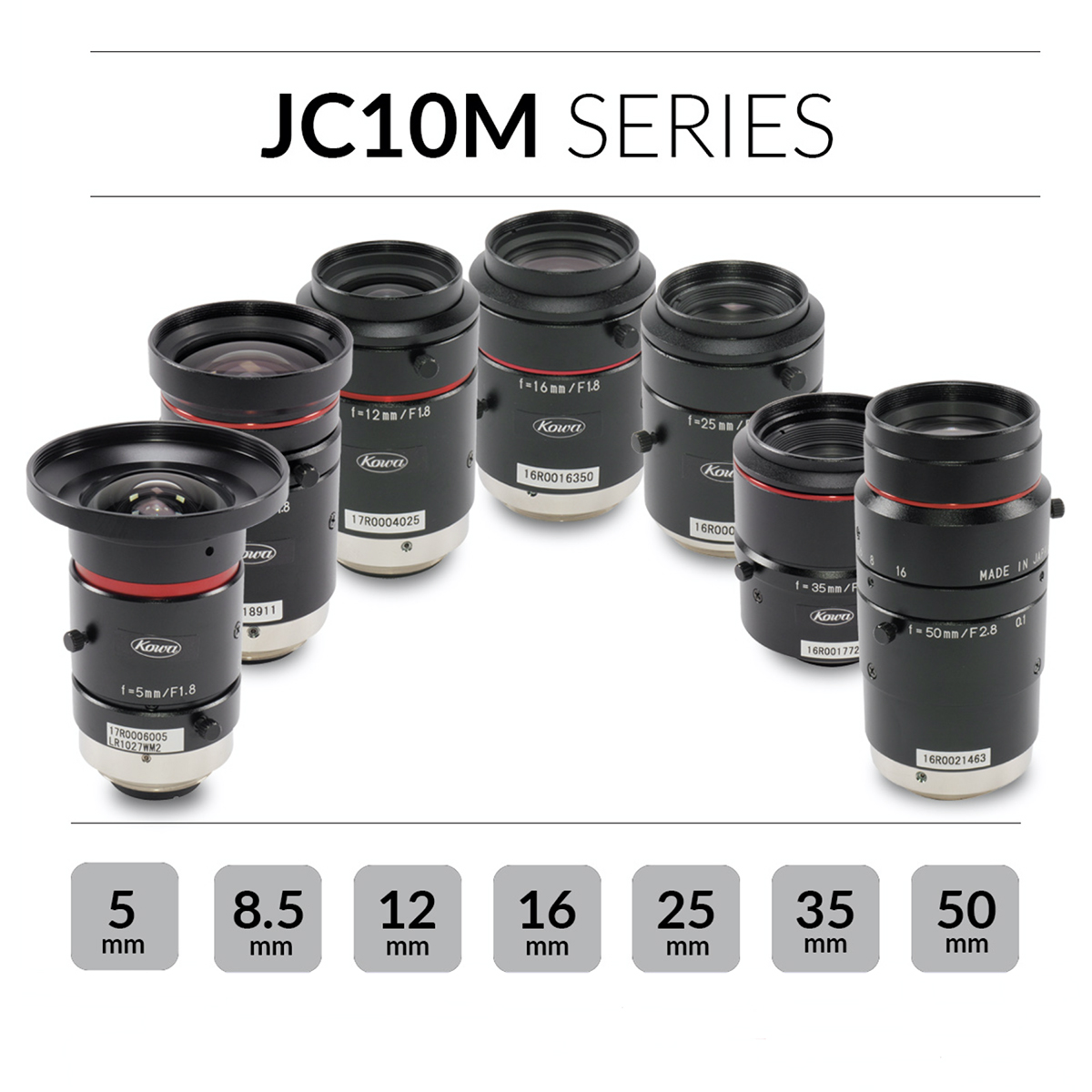 Kowa JC10M series lenses