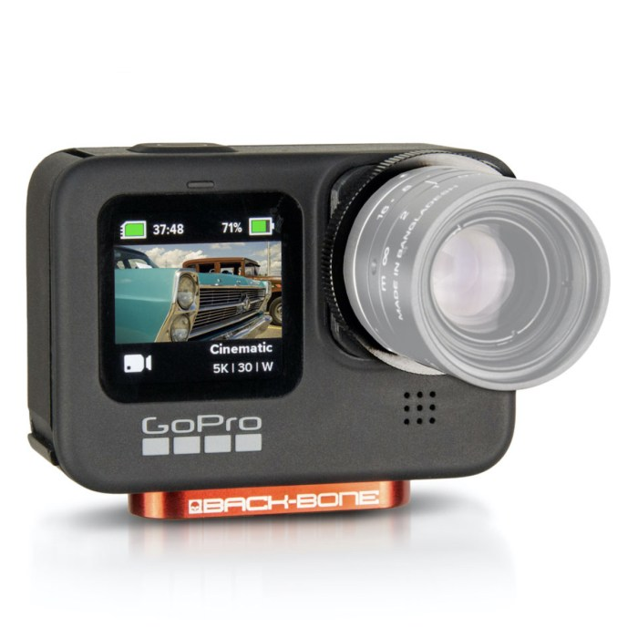 Back-Bone H9Pro front view ghosted lens