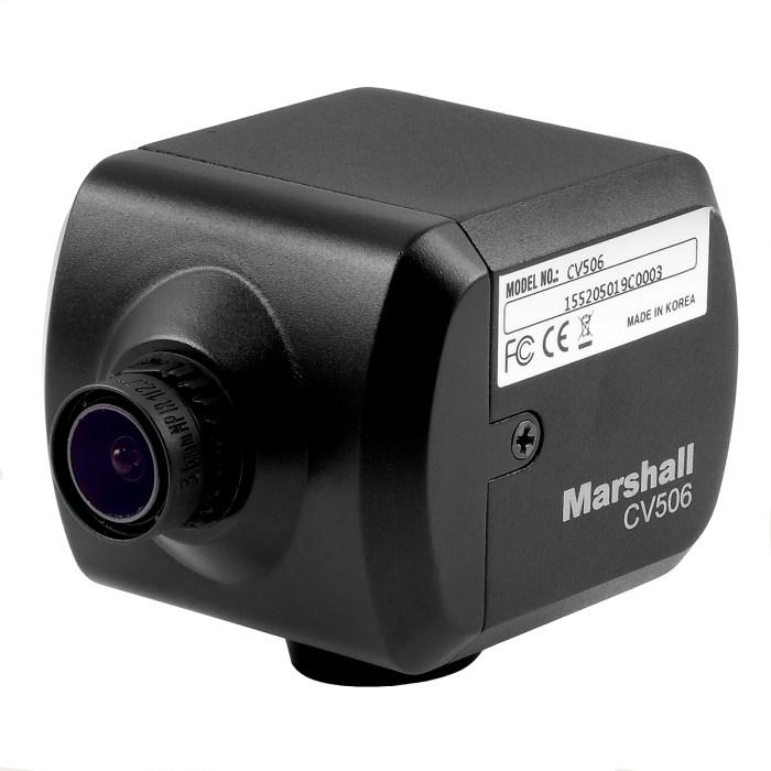 Marshall CV506 camera 3/4 view left