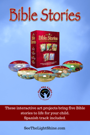 Bible Stories These interactive art projects bring five Bible stories to life for your child. See the Light Art
