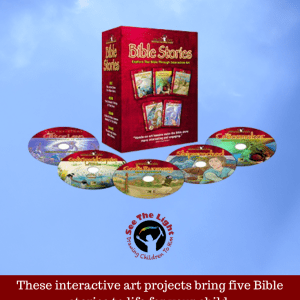 Bible Stories These interactive art projectsbring five Bible stories to life for your child. See the Light Art