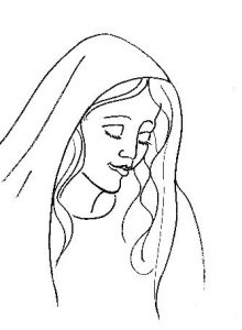 Virgin Mary - Line art
