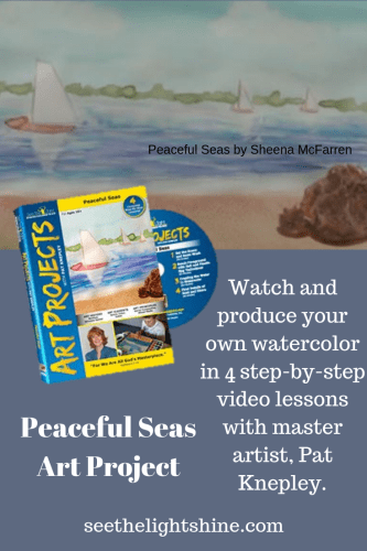 Peaceful Seas Art Project by See the Light. Watch and produce your own watercolor in 4 step-by-step video lessons.