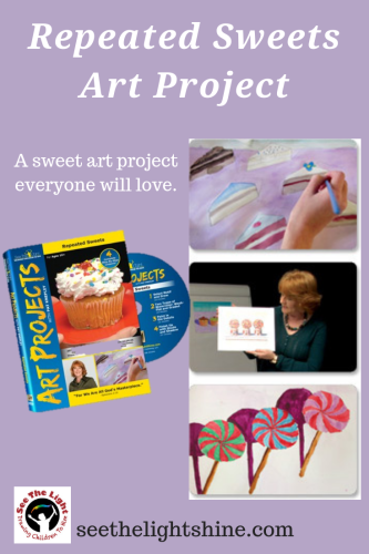 Repeated Sweets Art Project by See the Light.  A sweet art project everyone will love.