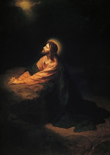 Christ in Gethsemane painting by German Artist, Heinrich Hoffmann