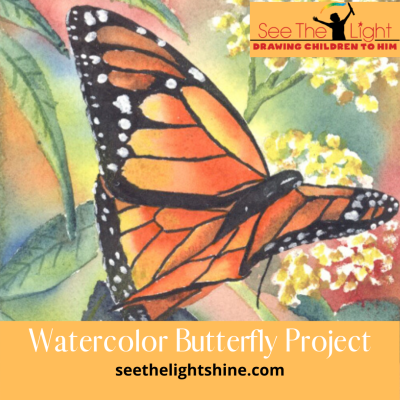 watecolor butterfly project