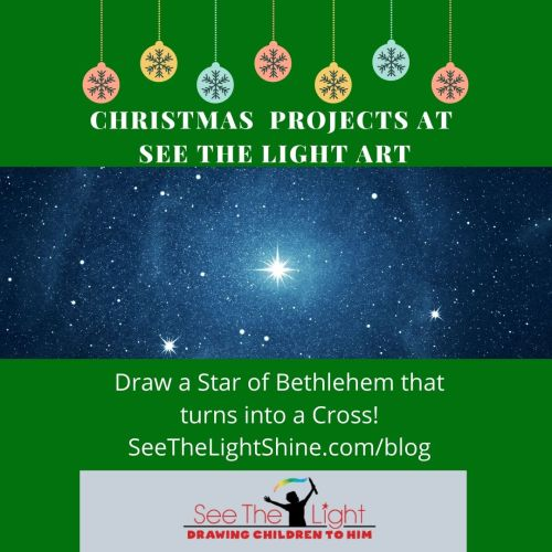 Star of Bethlehem to Cross art project