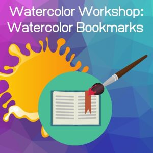 Blob of paint, paintbrush and bookmark Watercolor Workshop: Watercolor Bookmarks - Bookmark 1: Calvary. See the Light