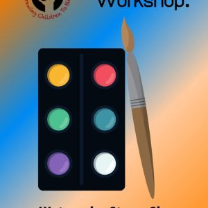 Watercolor art pallet with paint brush. Watercolor Workshop: Watercolor Starry Sky (Part 3) See the Light Art