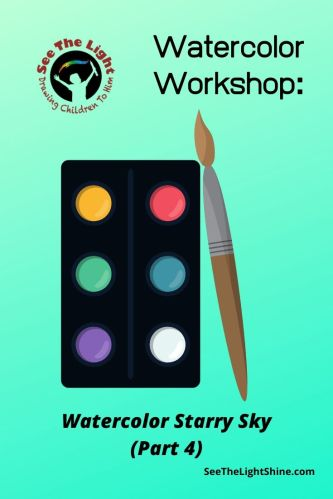 Watercolor art pallet with paint brush. Watercolor Workshop: Watercolor Starry Sky (Part 4) See the Light Art