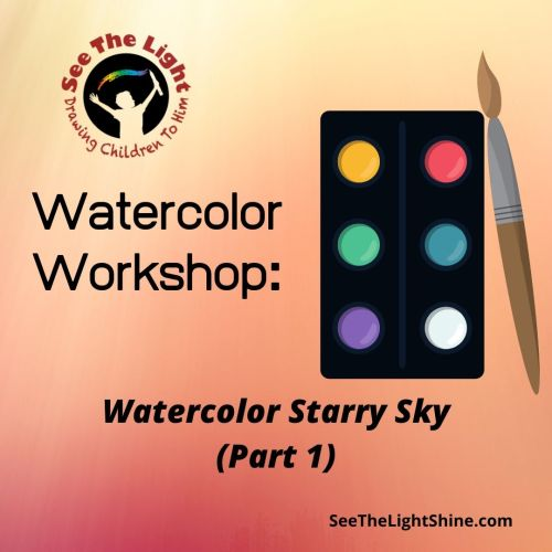 Watercolor art pallet with paint brush. Watercolor Workshop: Watercolor Starry Sky (Part 1) See the Light Art