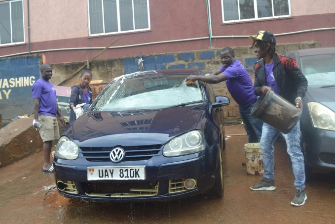 STGF  team during the carwash