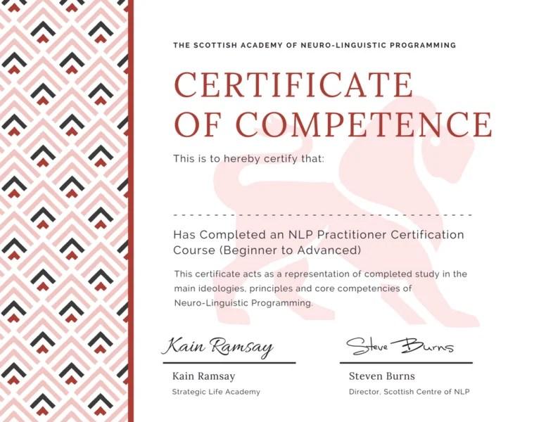NLP Practitioner Certificate