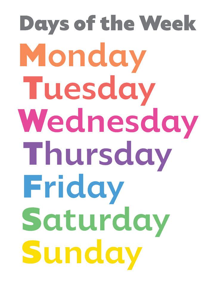 Have Fun Teaching Days Of The Week Song : teaching, Teach, Dyslexia, Order
