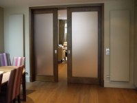Frosted Glass Pocket Doors for Your House