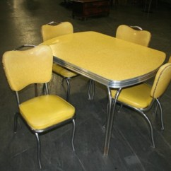 Retro Kitchen Chairs For Sale Office Max Desk Yellow Formica Table On Vintage Design | Seeur