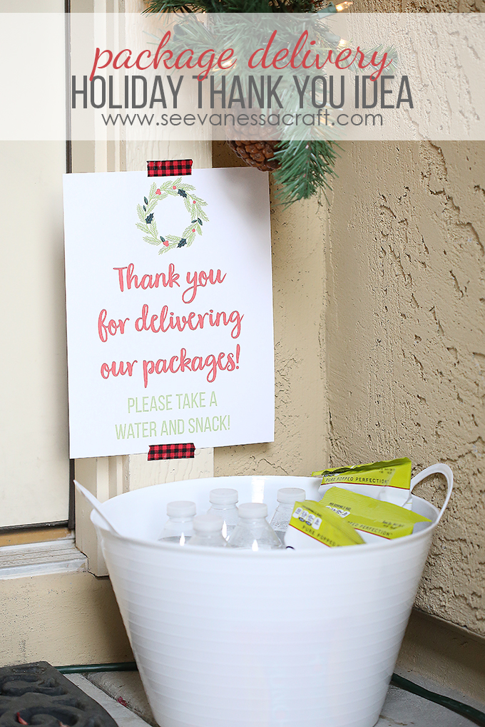 Christmas Thank You Idea For Package Delivery See