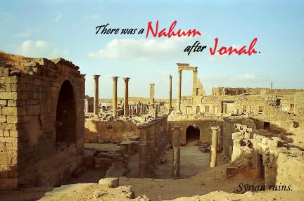 Syria ruins Nahum after Jonah