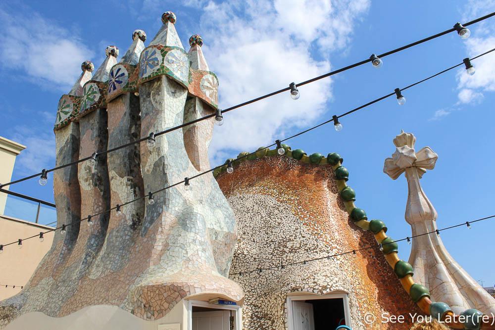 cheminées toit casa batllo barcelone