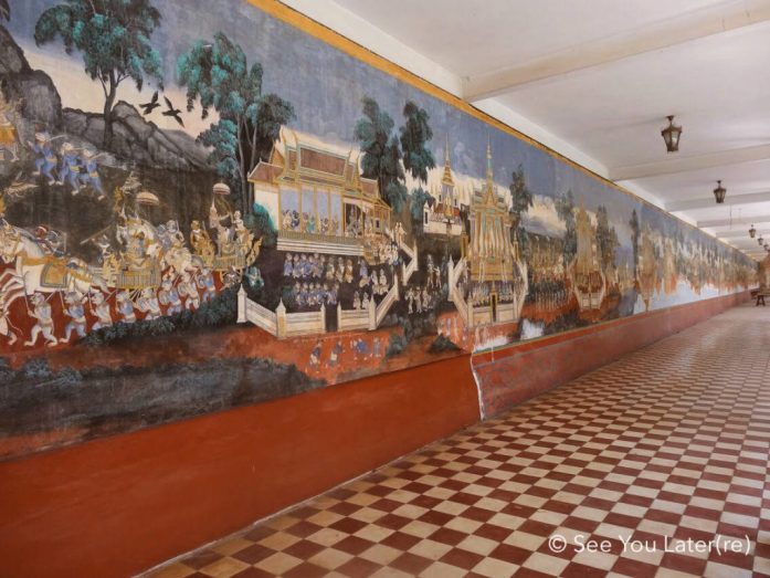 Fresque Palais Royal phnom penh