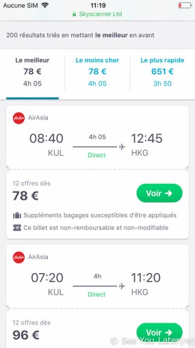 reservation vol skyscanner